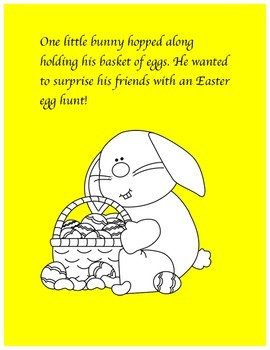 Easter Reading AND Coloring Book