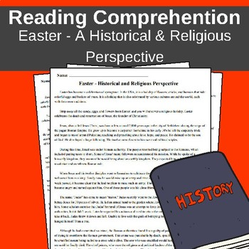 Easter Reading Comprehension - A Historic and Religious Perspective