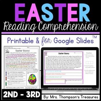 Easter Reading Comprehension Nonfiction Grades 2-3