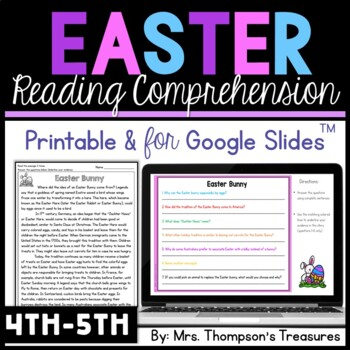 Easter Reading Comprehension Nonfiction Grades 4 5