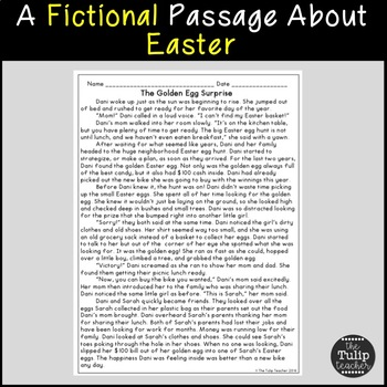 Easter Reading Comprehension Paired Passages