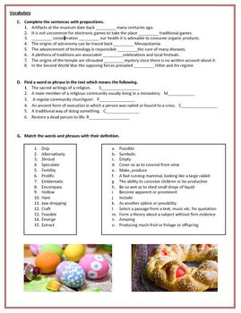 Easter - Reading Comprehension and Vocabulary Worksheets