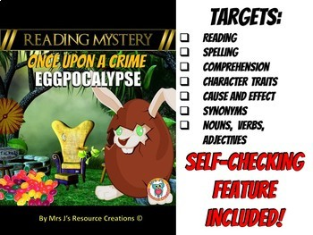 Easter Reading Comprehension, Vocabulary, Cause & Effect - READING MYSTERY