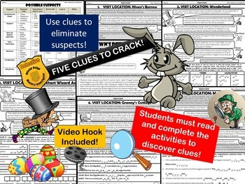 Easter Reading Comprehension READING MYSTERY Activity - Distance Learning