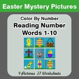 Easter: Reading Number Words 1-10 - Color By Number - Myst