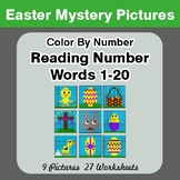 Easter: Reading Number Words 1-20 - Color By Number - Myst