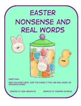 Easter Real and Nonsense Word Sort