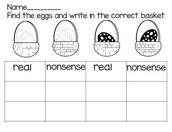 Easter Real and Nonsense Words