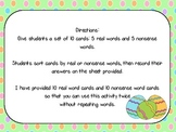 Easter Real or Nonsense Word Sort
