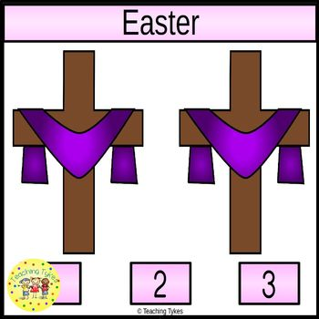 Easter Count and Clip Holiday Task Cards