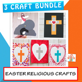 Easter Religious Craft Bundle : He Is Risen! and Cross Cra