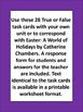 Easter True or False Task Cards