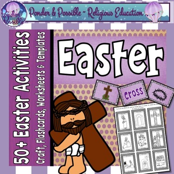 Easter ~ The story of Jesus ~ Craft, Flashcards, Worksheets & Templates