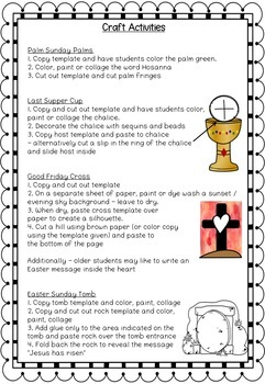 Easter & Holy Week Activities - Craft, Flashcards, Worksheets ...