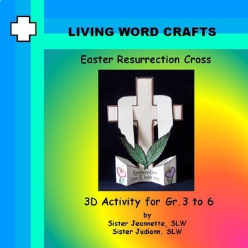 Easter Resurrection Cross 3D for Gr. 3 to 6