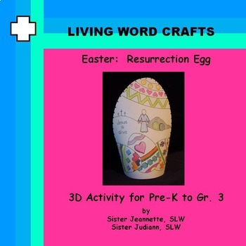 Easter Resurrection Egg 3D Activity for Pre-K to Gr.3