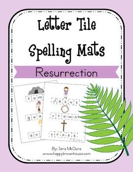 Easter (Resurrection) Letter Tiles Spelling Mat