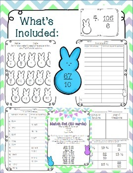 Easter Review Pack with Peeps {Converting Improper Fractions & Mixed Numbers}