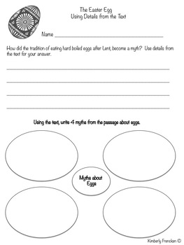 Easter Traditions:  Informational and Literary Text Passages & Printables