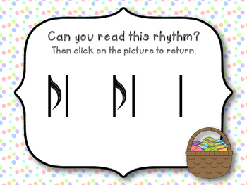 Easter Rhythm Reading Game to Practice Syncopa (Kodaly Review Game)
