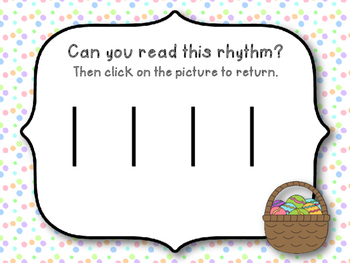 Easter Rhythm Reading Game to Practice Ta and Ti-ti (Kodaly Review Game)
