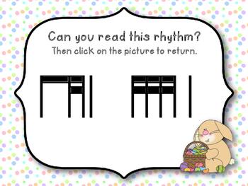 Easter Rhythm Reading Game to Practice Ti-tika (Kodaly Review Game)