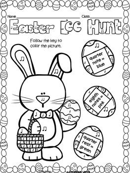Easter Rhythms Coloring Pages (FREEBIE)