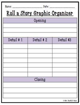 Easter Roll a Story - Story Prompts, Graphic Organizers and Rubric