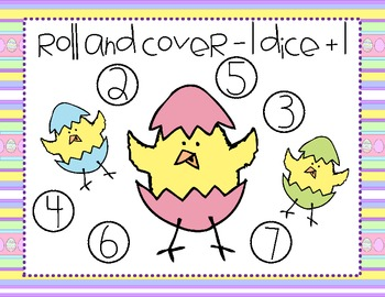 Easter Roll and Cover Dice Game (4 games in 1)