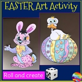 Easter Roll to Create Coloring Activity
