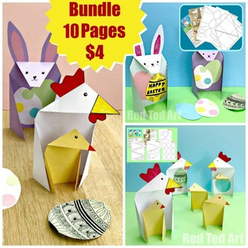 Easter STEAM Activity - Exploring Triangle Cards BUNDLE (Lesson Plan)