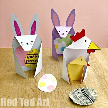 Easter STEAM Activity - Exploring Triangles with 3d Bunny Cards (Lesson Plan)