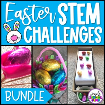 April STEM and Easter STEM Activities BUNDLE (Easter STEM Challenges)