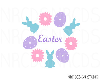 Easter SVG Cutting File - Commercial Use SVG, DXF, EPS, png