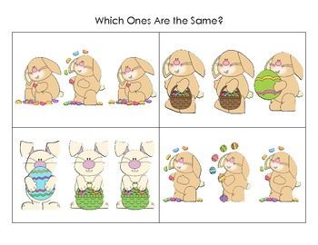 Easter Same and Different Activity- Freebie!