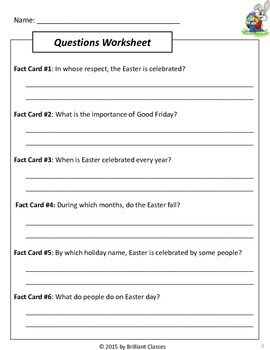 Easter Scavenger Hunt - {An activity on Easter History/Symbols/FunFacts}
