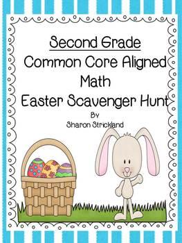 Easter Scavenger Hunt- Common Core Math Aligned