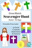 Easter Scavenger Hunt, Cross Match up, Christian Verses, P