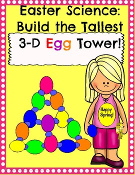 Easter Science 3-D Plastic Egg Tower!