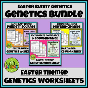Easter Science - Easter Bunny Genetics- Monohybrid & Dihybrid Worksheets