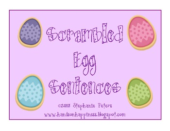 Easter Scrambled Egg Sentences