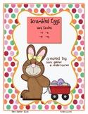 Easter Scrambled Egg Word Families -et, -en, -est, -eep