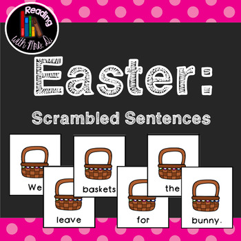 12 Easter Scrambled Sentences PLUS Recording Pages