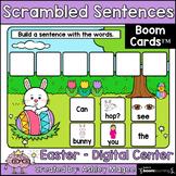 Easter Scrambled Sentences - Boom Cards - Digital Distance