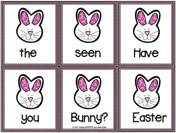 Easter Scrambled Sentences:  LOW PREP Sentence Building Activity