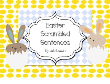 Spring Scrambled Sentences - Morning Learning - Centers