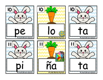 Easter Scrambled Syllables