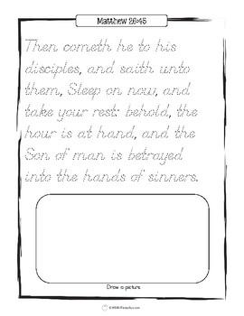 Easter Scriptures Handwriting - Level 1: Tracing (KJV)