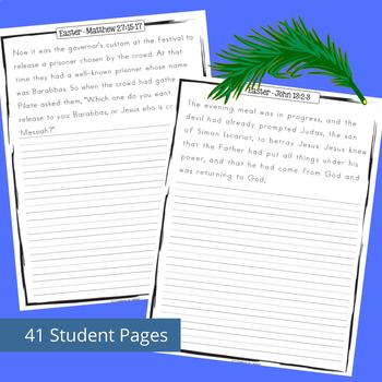 Easter Scriptures Handwriting - Level 2: Copy Work (NIV)