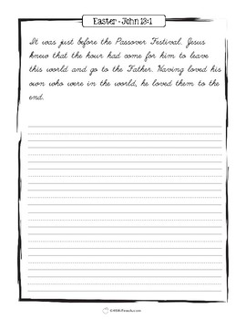 Easter Scriptures Handwriting - Level 3: Cursive Copy Work (NIV)